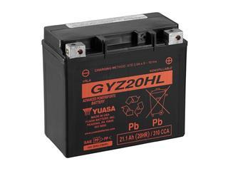 Batterie YUASA GYZ20HL sans entretien livrée avec pack acide