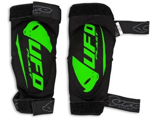 Adult SPARTAN UFO Elbow Guards in Black/Green, size S/M