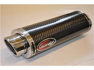 Oval section carbon exhaust