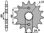 PBR 14-tooth sprocket for 530 SUZUKI GSF650 chain