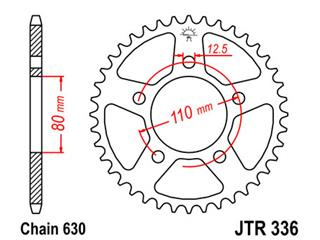 JT SPROCKETS Rear Sprocket 35 Teeth Steel Standard 630 Pitch Type 336