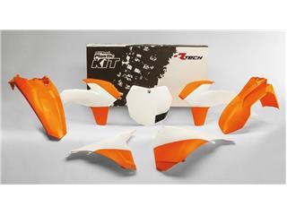 Kit plastique RACETECH couleur origine (2015) blanc/orange KTM - 7804897