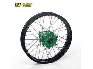 HAAN WHEELS Complete Rear Wheel 17x4,50x36T Black Rim/Green Hub/Silver Spokes/Silver Spoke Nuts