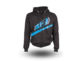 S3 Alaska Hoodie Black/Blue Size M