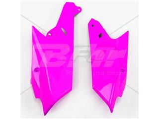 Tampas laterais traseiro UFO Yamaha cor-de-rosa fluor