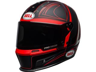 Casque BELL Eliminator Hart Luck Matte/Gloss Black/Red/White taille L - 800000980170