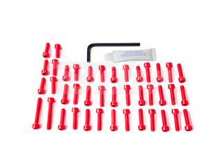Kit tornillería aluminio motor Pro-Bolt EYA390R Rojo