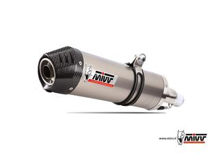 MIVV Oval Stainless Steel Full Exhaust System Stainless Steel Muffler/Carbon End Cap Yamaha X-Max 125