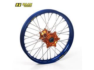 HAAN WHEELS Compleet Achterwiel 17x4,50x36T Blauw Velg/Oranje Naaf/Zwart Spaaken/Oranje Spaakennippel
