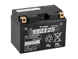 YUASA YTZ12S Battery Maintenance Free Factory Activated