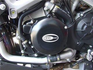 Couvre-carter gauche R&G RACING noir Aprilia RSV4/Tuono
