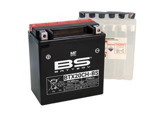 Batterie BS BATTERY BTX20CH-BS sans entretien livrée avec pack acide