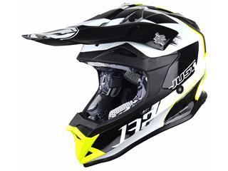 JUST1 J32 Pro Helmet Kick White/Yellow/Black Gloss Size XL - 621811XL