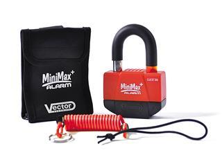 Antivol bloque-disque VECTOR MiniMax Alarm+ (Homologué SRA) Ø16mm/55x40mm Pack de 10pcs