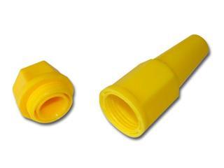 Porte bougie BIHR jaune  - 320100