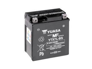 Batterie YUASA YTX7L-BS sans entretien livrée avec pack acide