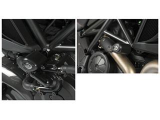 Tampons de protection R&G RACING Aero noir Ducati Diavel