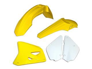 Kit plastique UFO couleur origine (2017) restylé jaune/noir Suzuki RM85 - 78393199