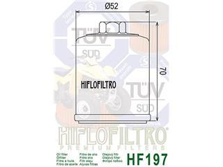 Filtre à huile HIFLOFILTRO HF197 - 7906630