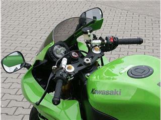 Guidons bracelets relevés LSL Tour Match argent Kawasaki ZX-10R