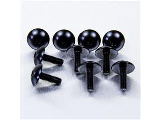 PRO BOLT xL Dome Head Fairing Screws M5x0,8x16mm Aluminium Black 10 pieces