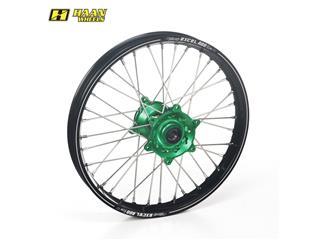 HAAN WHEELS A60 Complete Rear Wheel 18x2,15x36T Black Rim/Green Hub/Silver Spokes/Silver Spoke Nuts