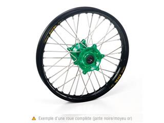 HAAN WHEELS Komplett framhjul 21X1.60  Svart Fälg/Grönt Nav Kawasaki