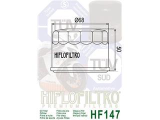 HIFLOFILTRO HF147 Oil Filter Black - c3522ef7-9d65-49a8-816f-322c1d0257ec