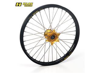 HAAN WHEELS Complete Front Wheel 19x2,50x36T Black Rim/Gold Hub/Silver Spokes/Silver Spoke Nuts