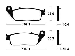 Plaquettes de frein TECNIUM ME154 organique - c3932a5b-bc7e-45de-82bc-cbc085272ef3