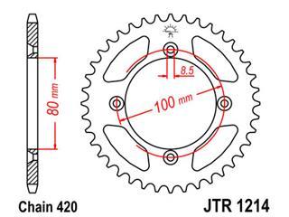 Couronne JT SPROCKETS 36 dents acier standard pas 420 type 1214 - 47121436