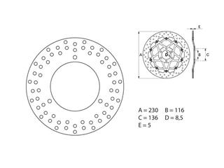 SERIE ORO brake disc (replacement of the original) - 53.240765