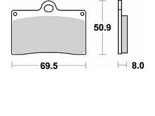 Plaquettes de frein BRAKING 688CM66 semi-métallique - 3806882