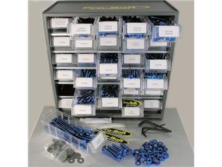 Assortiment visserie alu PRO BOLT bleu 500 pièces - 530113B