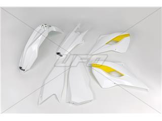 UFO Plastic Kit OEM Color (2015) White/Yellow KHusqvarnaTM