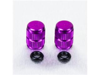 Pair of Pro-Bolt violet aluminium tyre valve caps