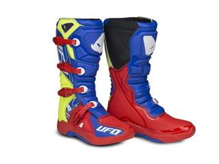 UFO Elektron Boots Red/Blue/Neon Yellow Size 39