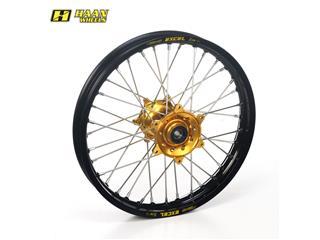 HAAN WHEELS Komplett Hinterrad 18x2,15x36T Schwarz Felge/Gold Nabe/Silber Speichen/Silber Speichennippel