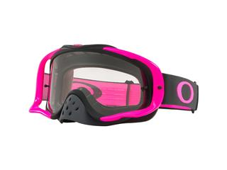 Masque OAKLEY Crowbar MX Pink Gunmetal écran transparent