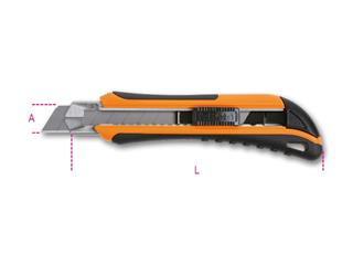 BETA Utility Knife 18mm with 6 spare Blades
