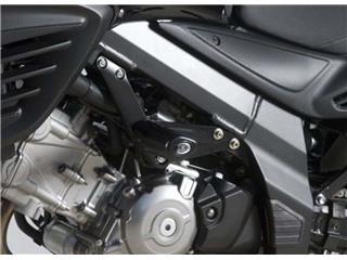 Tampons de protection R&G RACING Aero noir Suzuki DL650 V-Strom