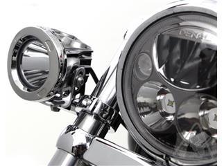DENALI Forks Tubes Light Mount Ø39-49mm Chrome - c962bb98-633c-48f5-87fc-d4620a44f1b9