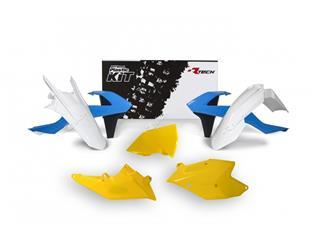 Kit plastique RACETECH vintage bleu/blanc/jaune édition limitée KTM - 7805004