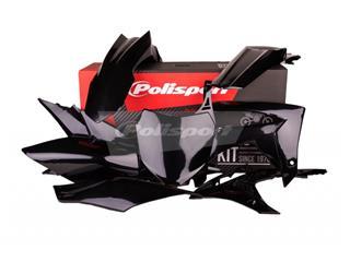 Kit plastique POLISPORT noir Honda CRF250F/CRF450F - PS211BC19