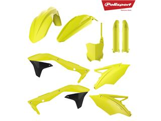 Kit plastique POLISPORT jaune fluo Kawasaki KX450F