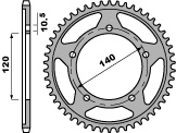 Couronne PBR 48 dents acier standard pas 525 type 4398 - 47000398