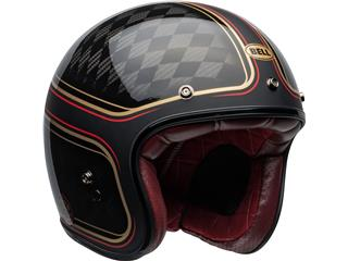 Capacete Bell Custom 500 Carbon RSD CHECKmate Preta/Dourada, Tamanho S - cac623cc-0f91-44fa-b87a-b9a9f30709da