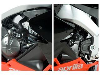 Tampons de protection R&G RACING Aero noir Aprilia RS4 125