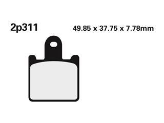 NISSIN Brake Pads 2P311ST Sintered Metal