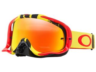 OAKLEY Crowbar MX Goggle Pinned Race Yellow/Red Fire Iridium Lens